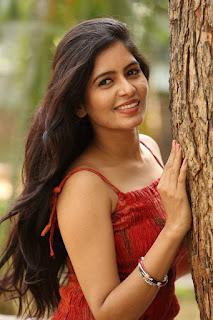 Actress Madhumitha Stills in Red Dress at Lajja Movie Press Meet  0021.jpg