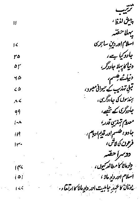 The Islam and Hisroty of Majic in Urdu