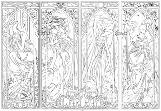 World of Warcraft art nouveau style