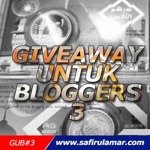 GiveawayUntuk Bloggers 3 Safirul Amar