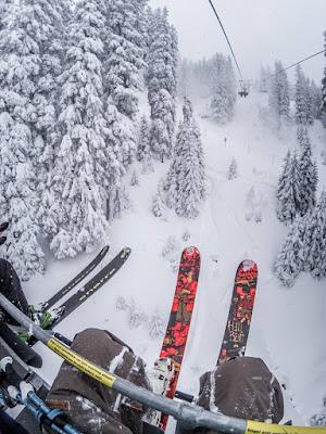 die richtige ski technik im powder