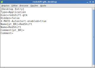 Configurando Redshift no Debian