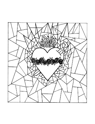 click here for the immaculate heart of mary stained glass coloring page