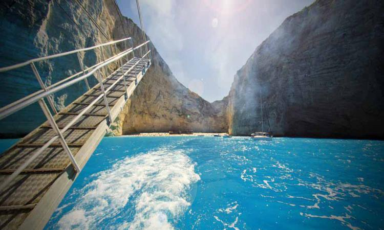 Reaching Navagio beach (Shipwreck or Smugglers Cove), Zante
