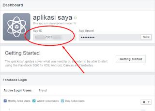 App ID facebook untuk blog dan web