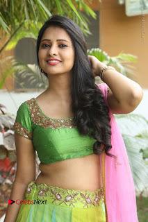 Actress Nikitha Bisht Stills in Lehenga Choli at Pochampally Ikat Art Mela Launch  0097.JPG