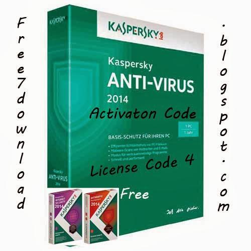 kaspersky antivirus 2014 activation code free license key