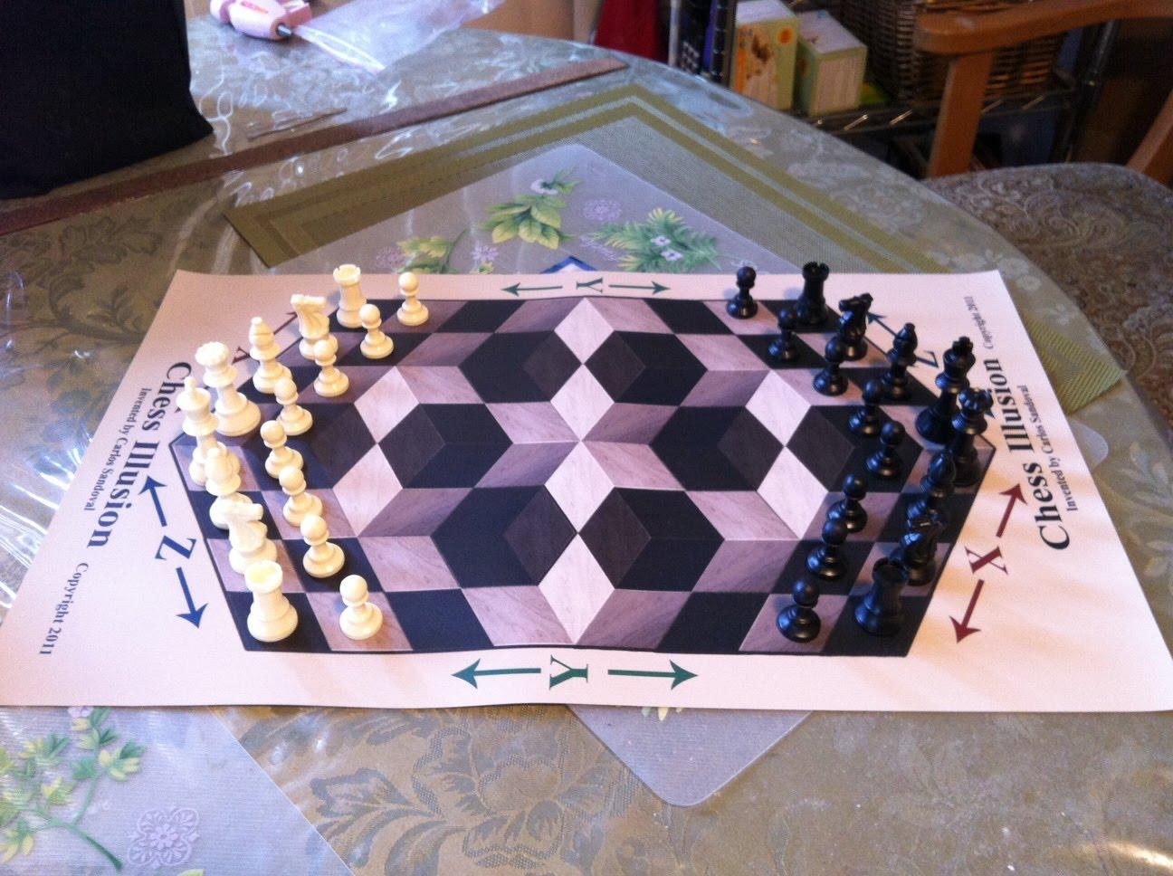 Chess Illusion Chess Illusion 3d