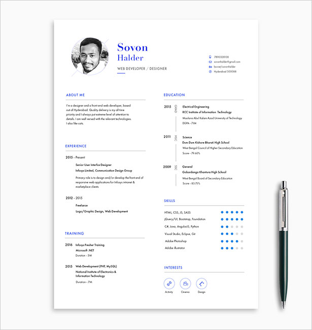 Template Resume CV 2018 - Free Professional CV , Cover Letter & Portfolio Template 2018