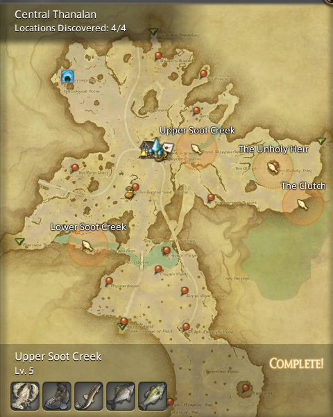 Final Fantasy 14 Fishing Spot Maps & Locations - GamingReality