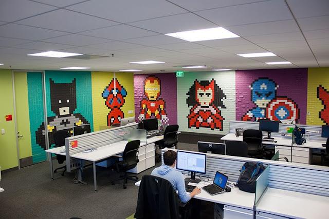 Vách ngăn văn phòng có tác dụng trang trí giúp không gian văn phòng làm việc trở nên sáng tạo và cuốn hút hơn