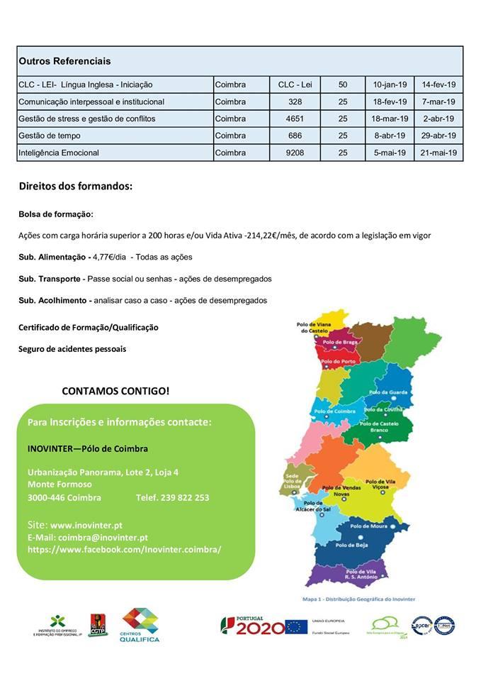 Formação financiada Coimbra 2019
