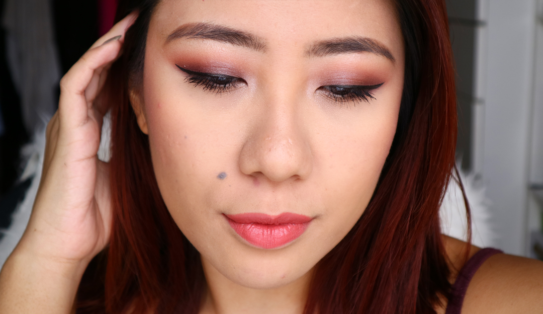 Purple Smokey Eye Pictorial using Makeup Geek Cosmetics Eyeshadows with Gerard Cosmetics Tequila sunrise