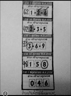 Thai Lotto Magazine 3up Tass VIP Tip 01-11-2016