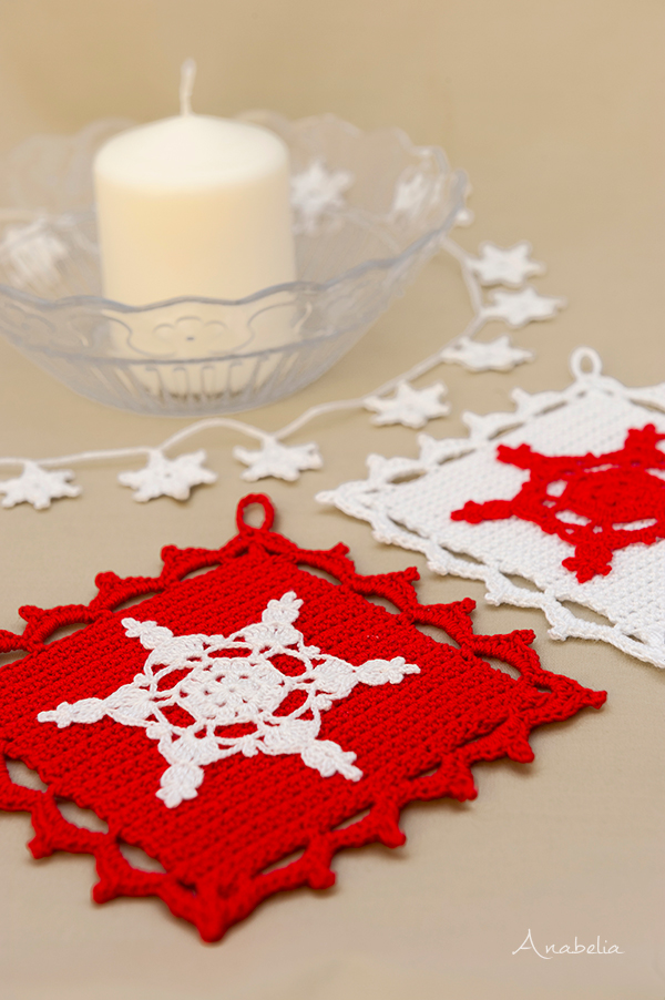 Christmas crochet decoration, Anabelia Craft Design