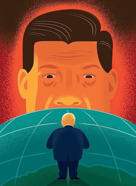 China vs Trump illustration