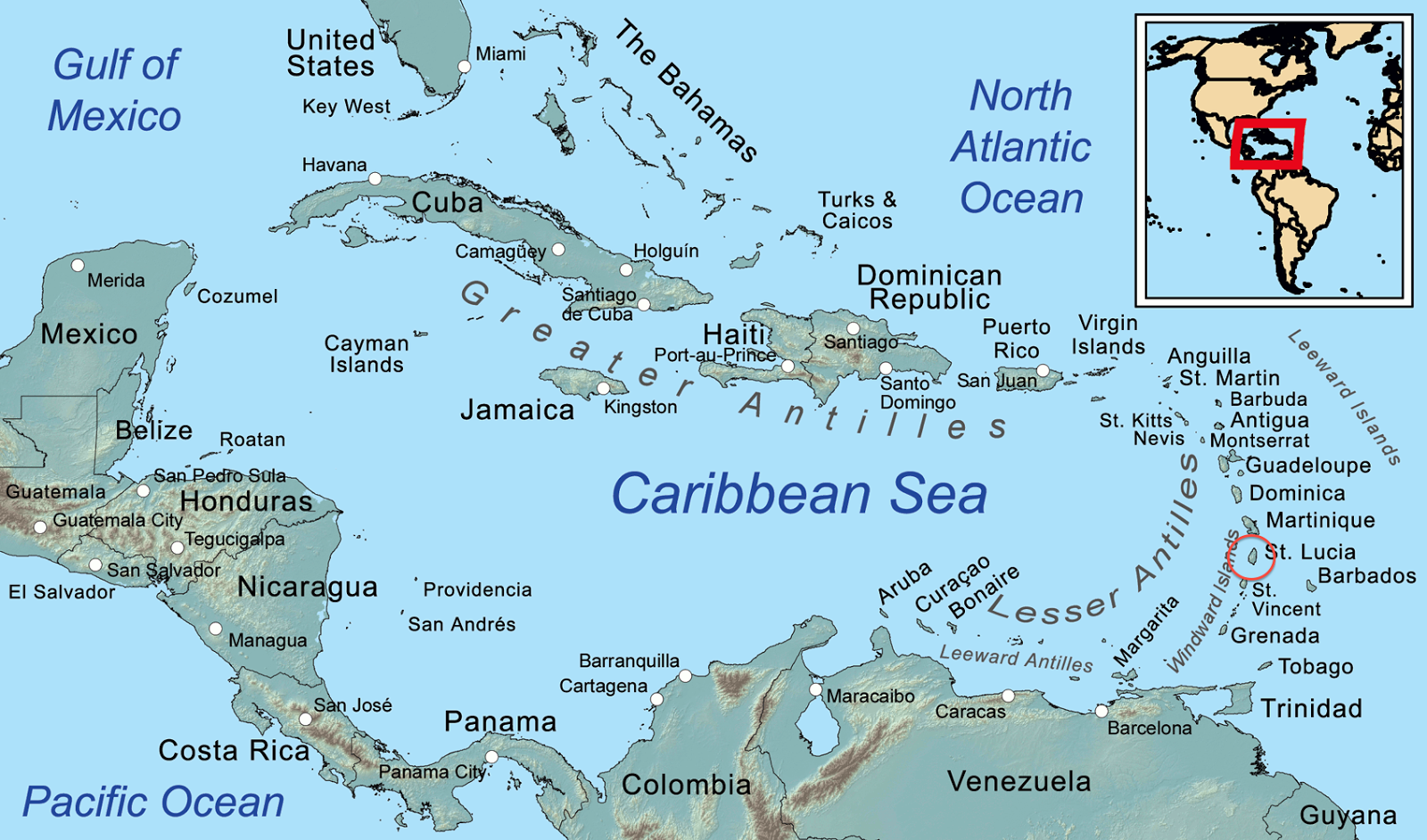 Location St Lucia In Caribbean: WPS Geography: Soufriere Marine Management Area