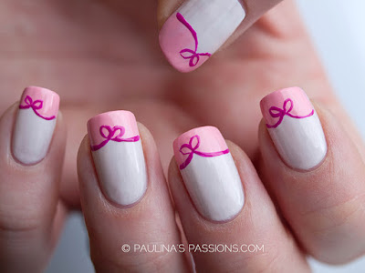 Stylish-and-Cute-Nail-Designs-with-Bows-and-Diamonds-for-Girls-15
