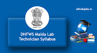 DHFWS Malda Lab Technician Syllabus