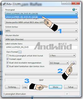 Cara membuat bootable windows 7 menggunakan Rufus