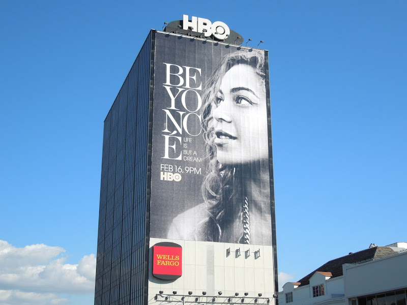 Giant Beyoncé Life But a Dream billboard