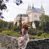 old school chic, like a movie star from the silver screen! #travelphotostory : bojnice castle.
