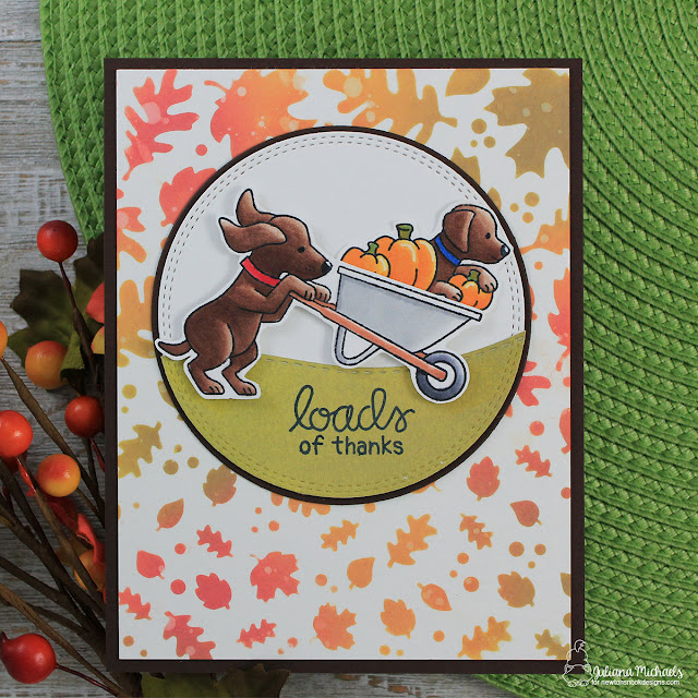 Loads of Thanks Card by Juliana Michaels featuring Newton's Nook Designs Loads of Thanks Stamp Set created for Simon Says Stamps Stamptember®