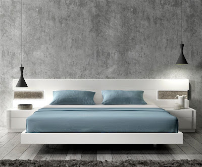 contemporary white lacquer platform storage beds