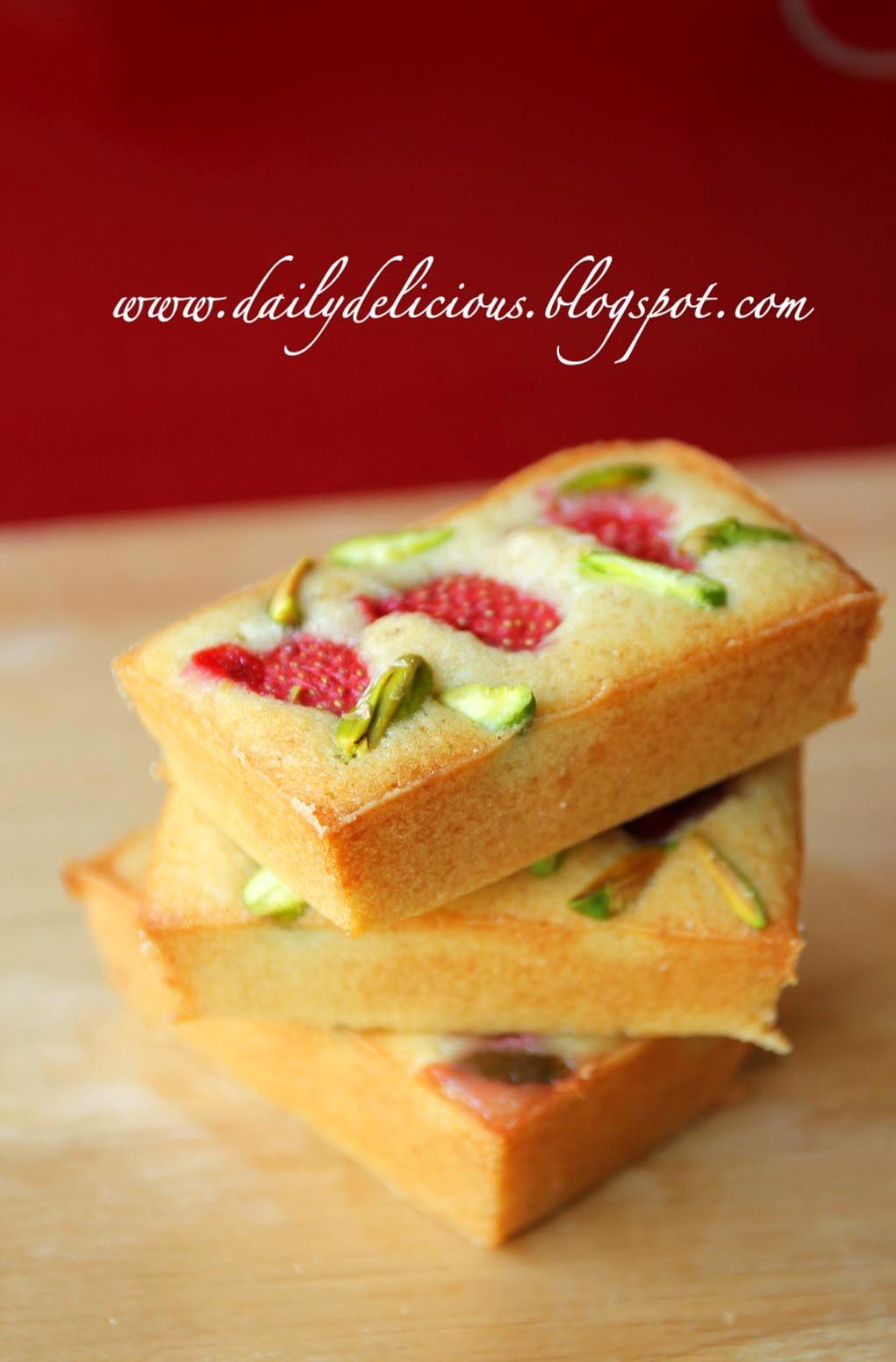 Pistachio Financier Cake Recipe