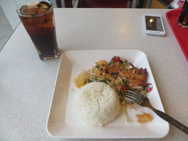 Еда из KFC Таиланд. острые блюда
