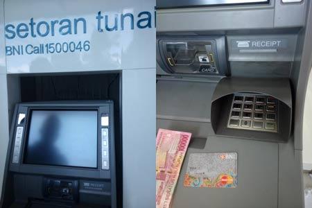 Mesin ATM BNI Setor Tunai