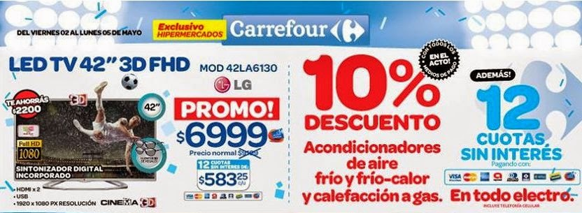 tecno promos argentina promos carrefour electro fin de semana. Black Bedroom Furniture Sets. Home Design Ideas