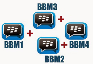 Download Multi BBM + BBM2 + BBM3 + BBM4 New Version 2017