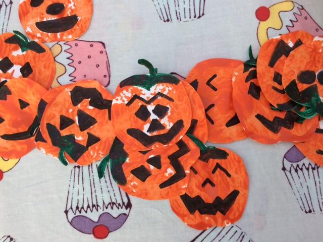 Pumpkins cut out
