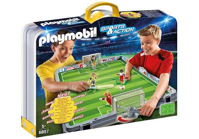 TOYS : JUGUETES - PLAYMOBIL Sports & Action 6857 Set de Fútbol Maletín con 2 jugadores y 2 porteros. Producrto Oficial Abril 2016 | A partir de 5 años Comprar en Amazon España