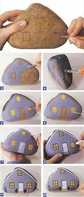 Paso a Paso : Manualidad con piedras pintadas
