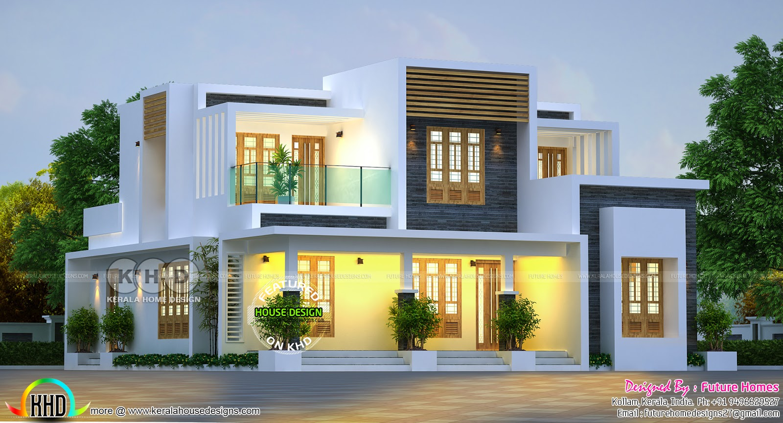 204 sq m contemporary home kerala home design and floor plans