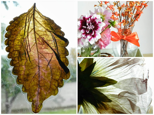 Fall Leaves and Flowers Decor
