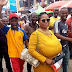 PHOTO: Woman with very massive b00bs causes commotion in Lagos