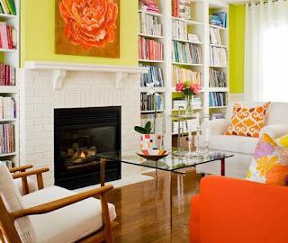 diseño sala colorida