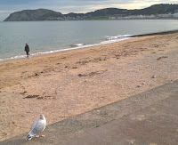 A photo of the bay in Llandudno, North Wales