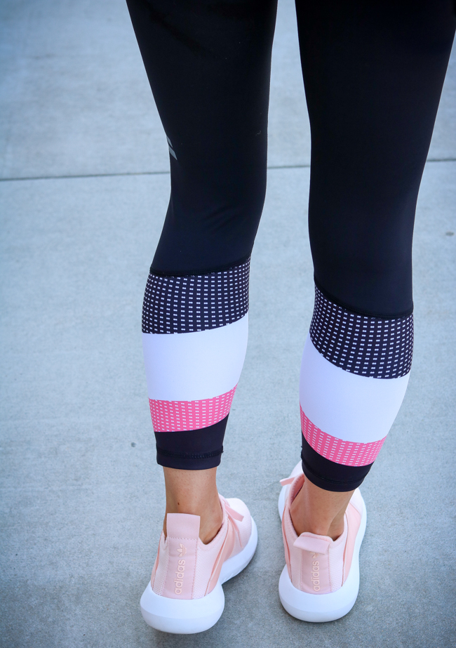 lilybod leggings and adidas sneakers