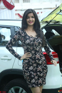 Kritika Telugu cinema Model in Short Flower Print Dress 062.JPG
