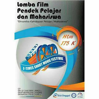 Lomba Film Pendek Pelajar dan Mahasiswa 2018 di Universitas Esa Unggul