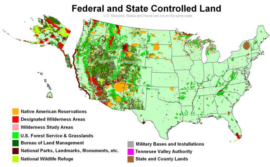 Map Of All Public Lands In The Usa