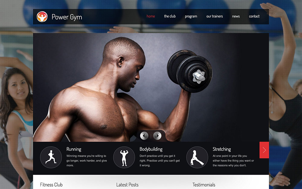 Power Gym - Responsive Wordpress Theme