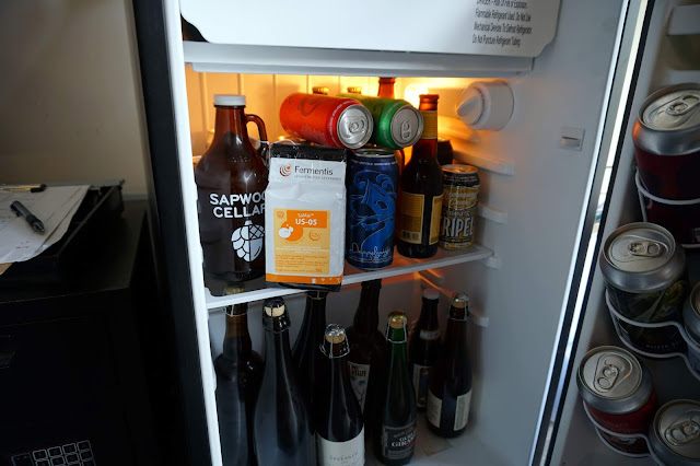 Yeast/beer fridge.