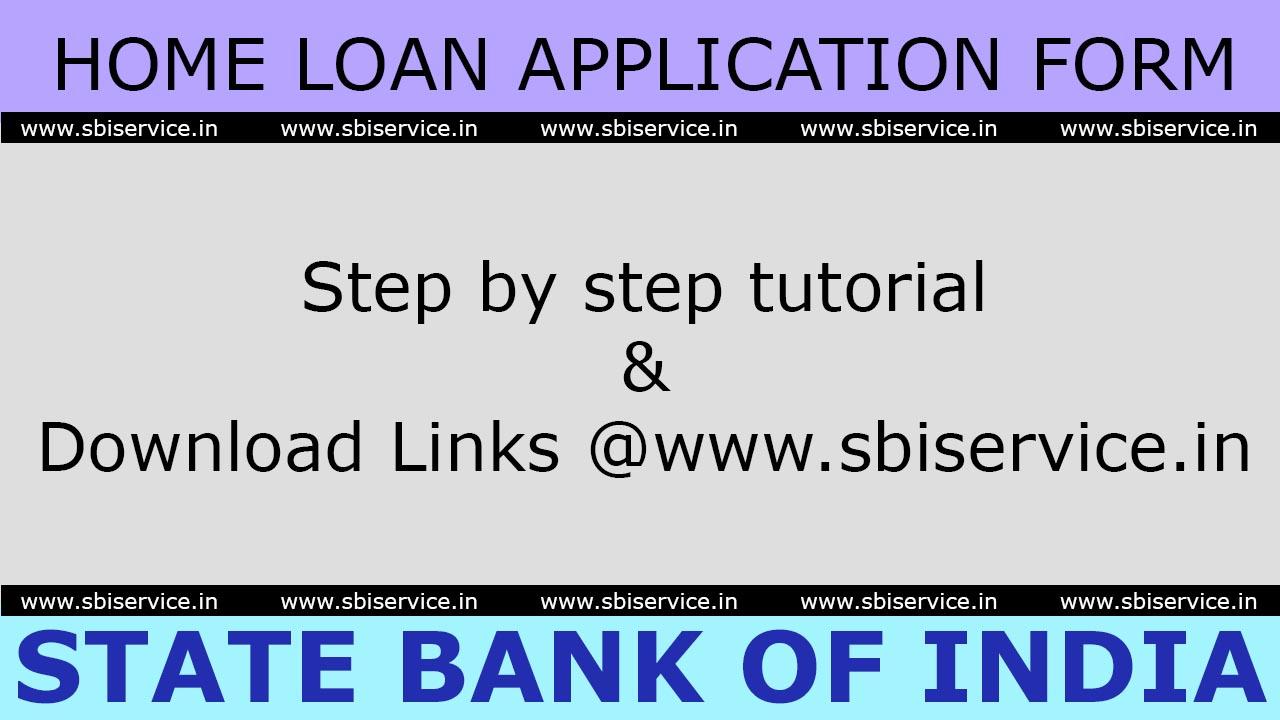 SBI Home Loan Application Form July 2017 - Steps & Links to Download ...