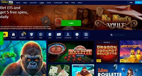 William Hill Casino Online: comience con un bono de bienvenida de £ 300