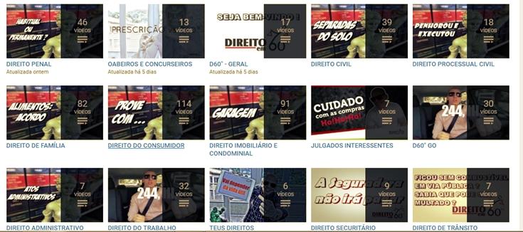 Canal DIREITOem60'' - Inúmeras dicas para concursos públicos e OAB
